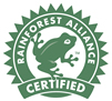 The Dingley Press is Rainforest Alliance Certified