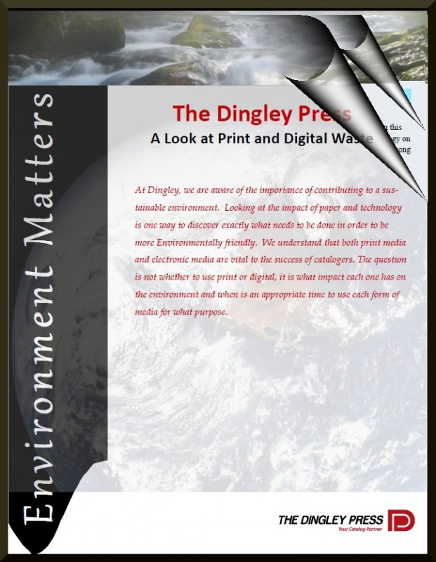 Cover Pages for A Look at Print & Digital Waste