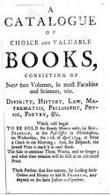 Ben Franklin Catalog