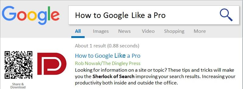 Google Like A Pro!
