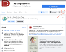 Setting Buttons on Facebook page