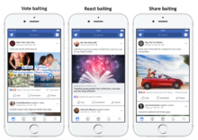 Facebook baiting tactics