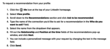 LinkedIn Recommendation Instructions