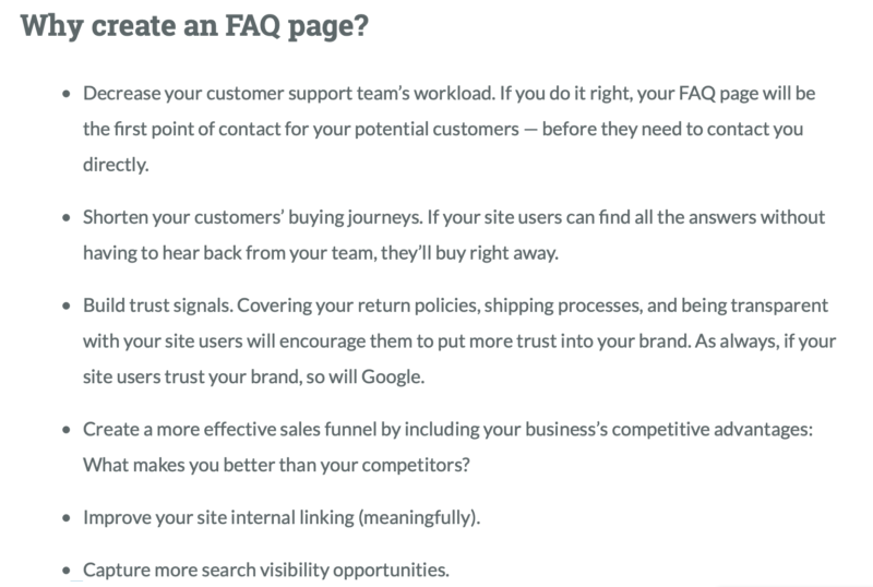 MOZ Why to Create FAQ Page