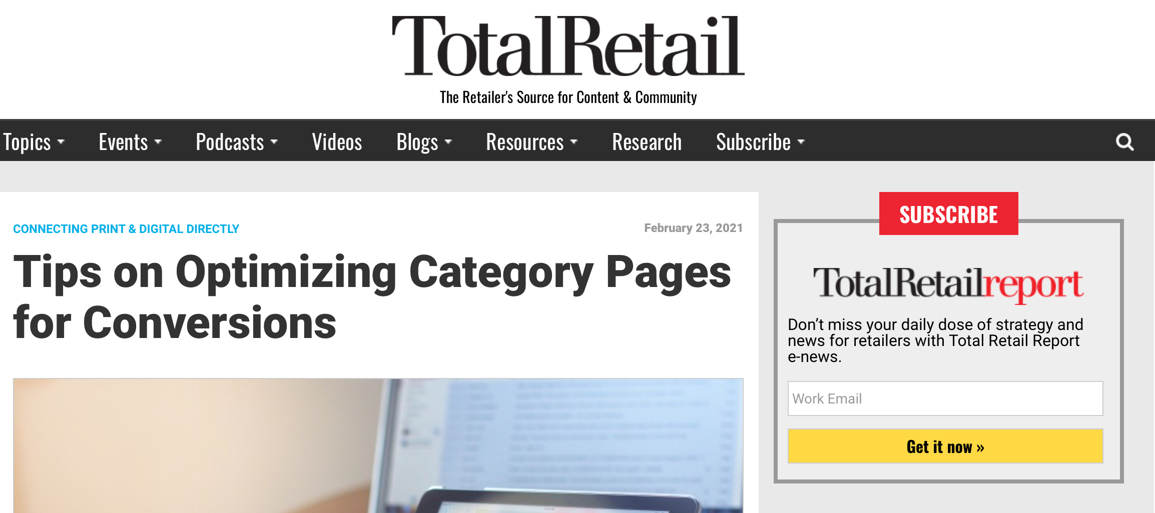 Tips on Optimizing Category Pages for Conversions
