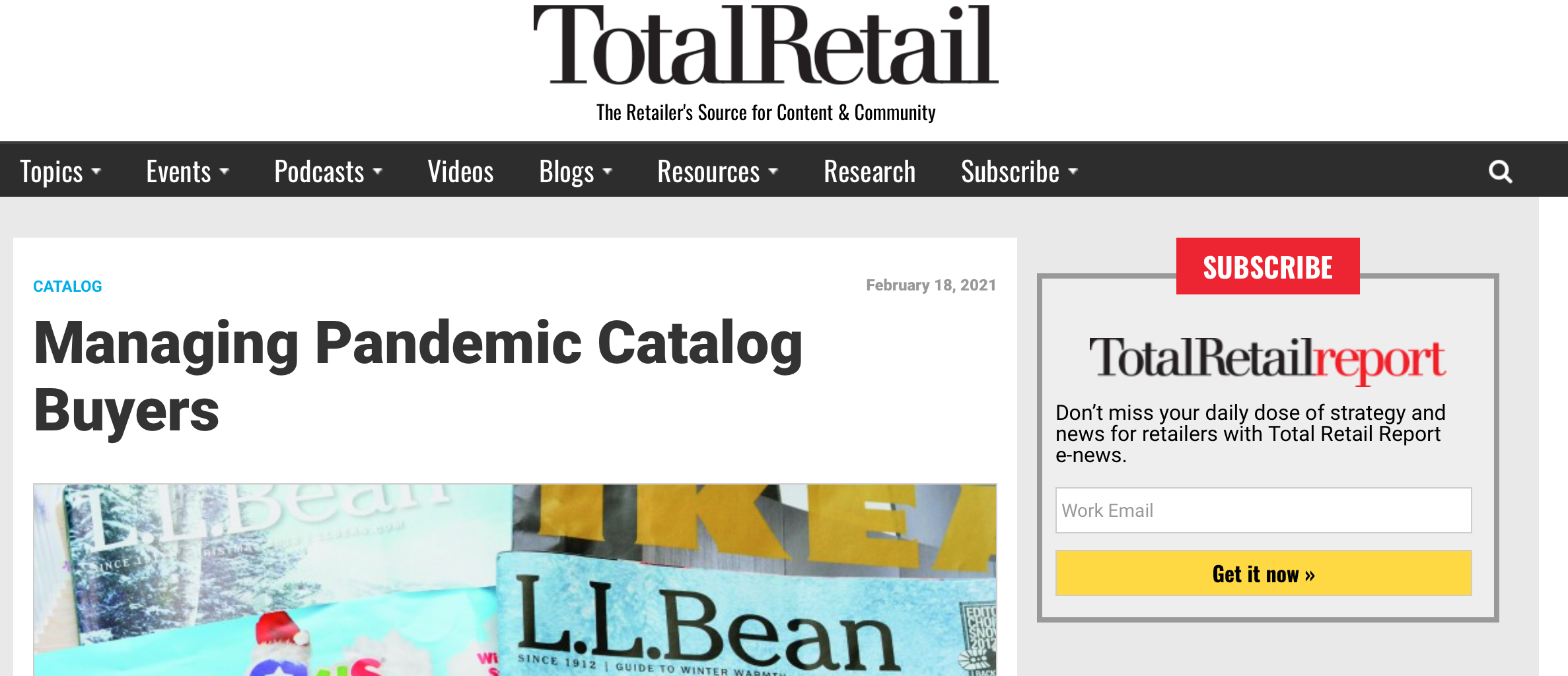 Managing Pandemic Catalog Buyers